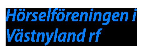 Hörselföreningen i Västnyland rf